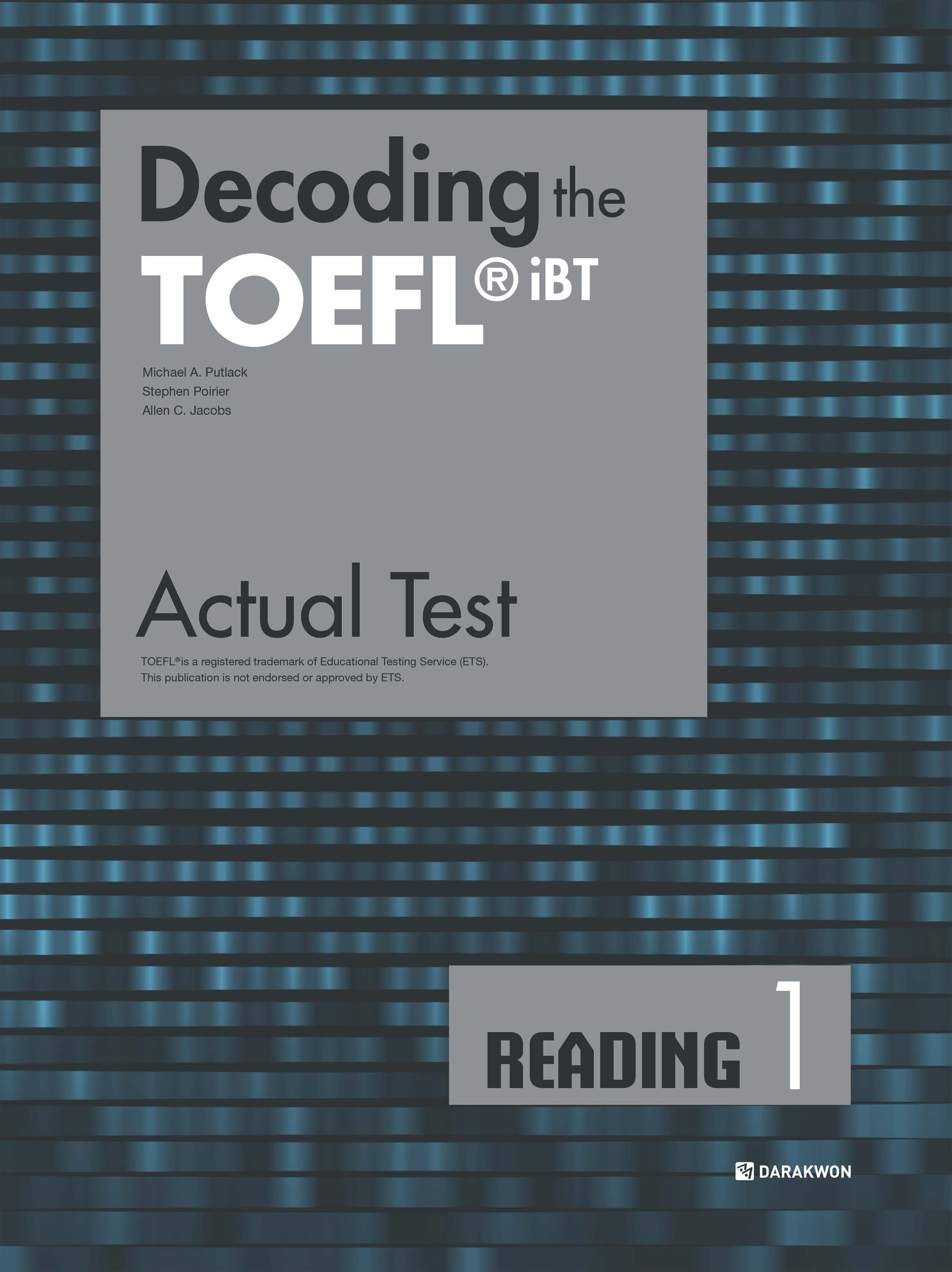 [Decoding the TOEFL iBT Actual Test] Decoding the TOEFL iBT Actual Test READING 1