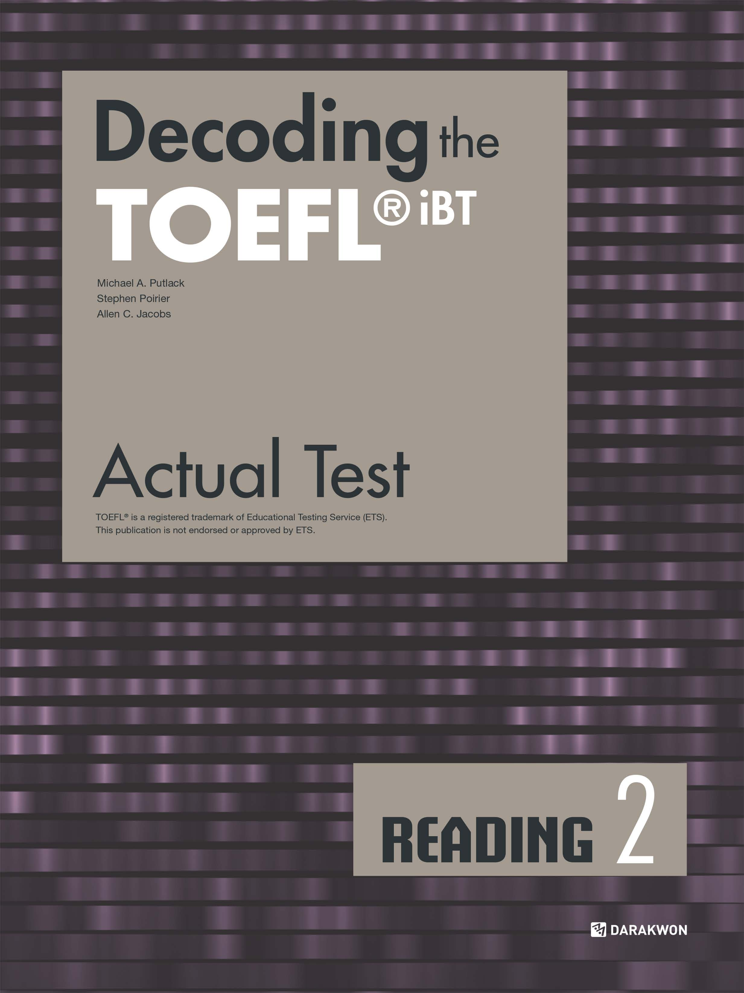 [Decoding the TOEFL iBT Actual Test] Decoding the TOEFL iBT Actual Test READING 2